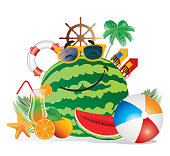 Watermelon and Beach
