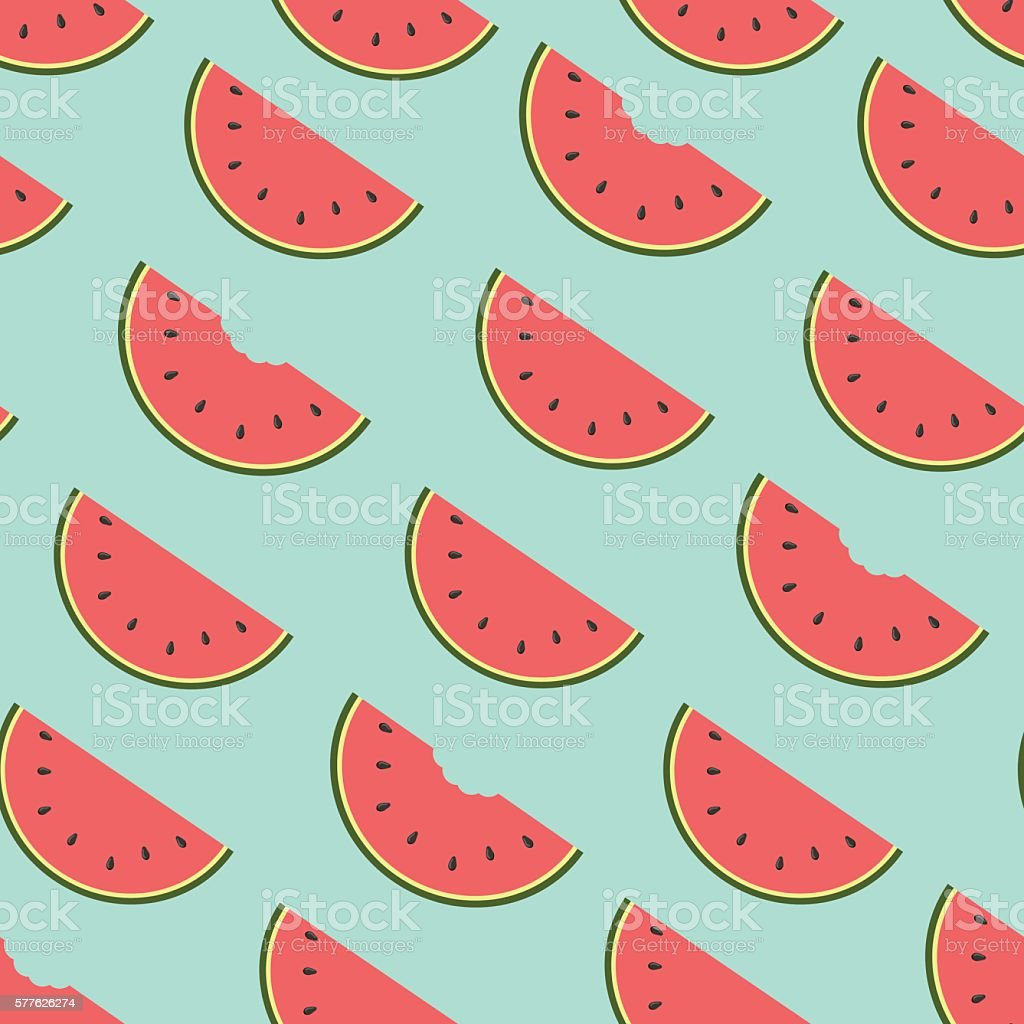 watermelon background, vector vector art illustration