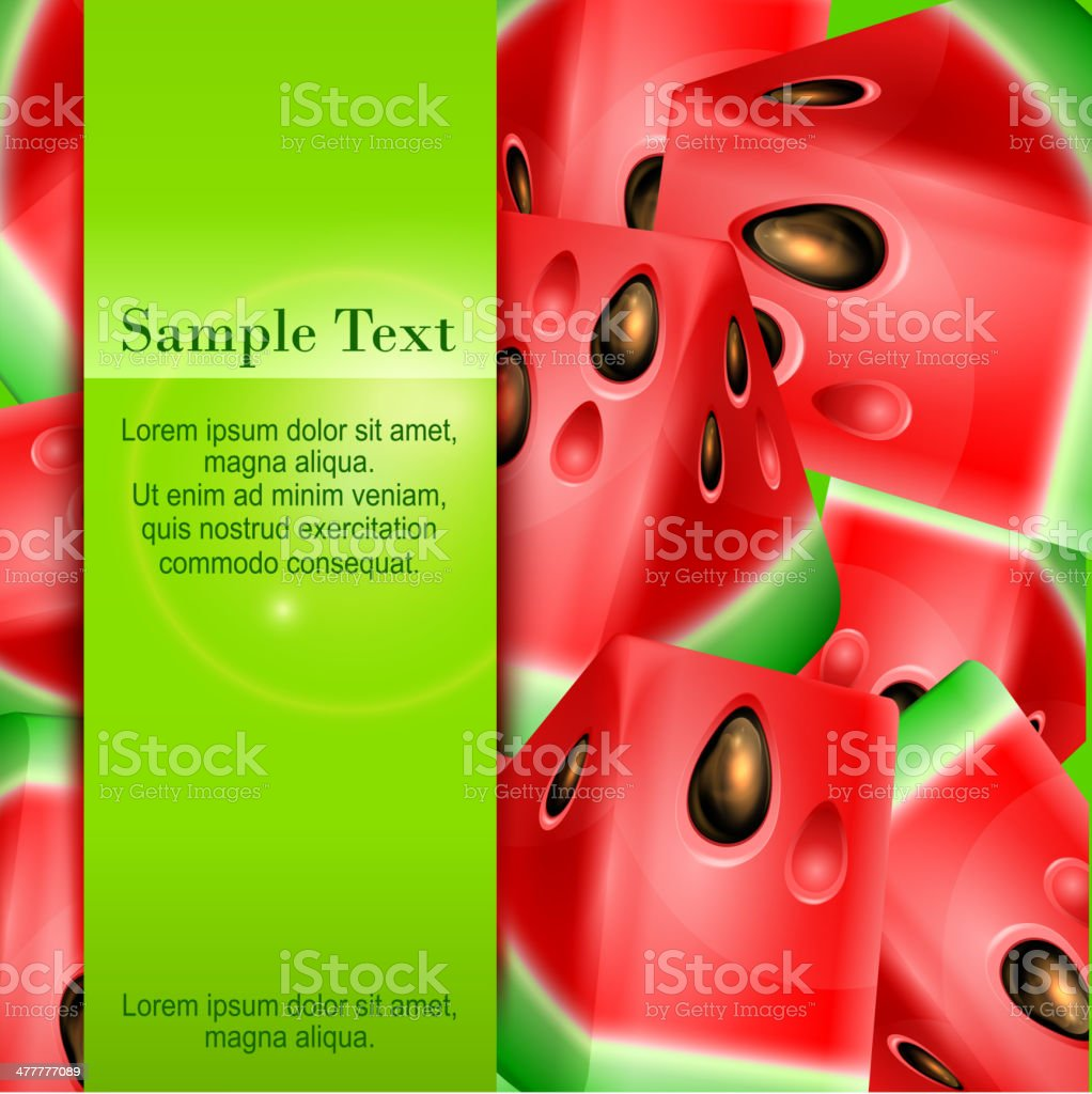 Watermelon banner royalty-free stock vector art