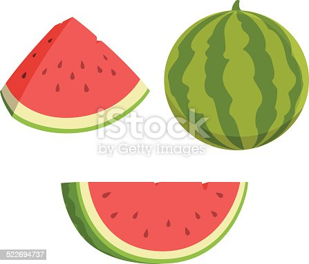 istock Watermelon Cartoon 522694737
