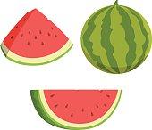 Vector cartoon of watermelons