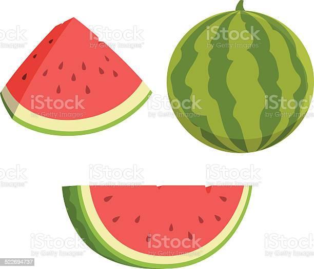 Watermelon Cartoon Stockvectorkunst en meer beelden van Cartoon