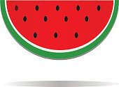 watermelon icon. cute red watermelon slide. watermelon icon in trendy flat style isolated on white background.
