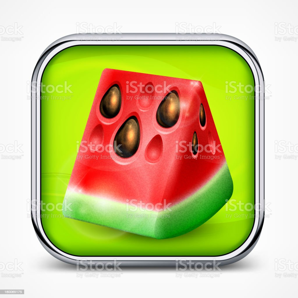 Watermelon icon royalty-free watermelon icon stock vector art & more images of berry fruit