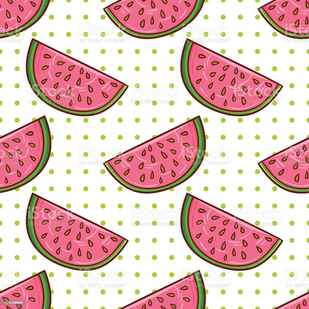 Watermelon pattern royalty-free watermelon pattern stock vector art & more images of 2015