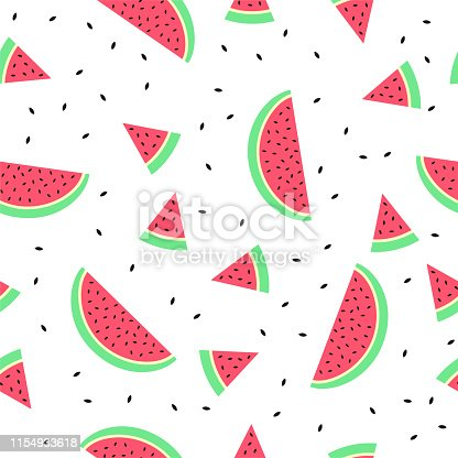istock Watermelon Seamless pattern background texture 1154933618