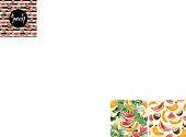 縞模様のスイカのシームレスなパターン ベクトル図