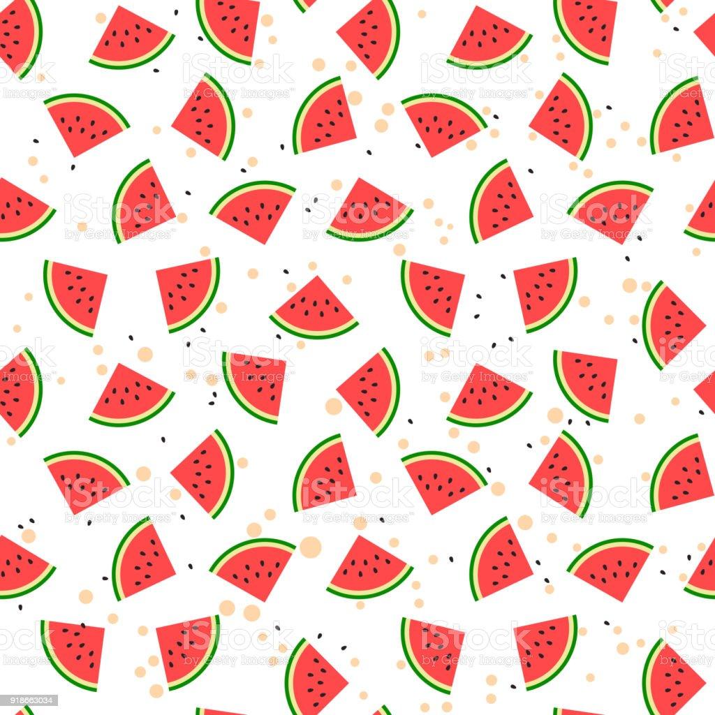 Watermeloen naadloze patroon - Royalty-free 25 cent vectorkunst