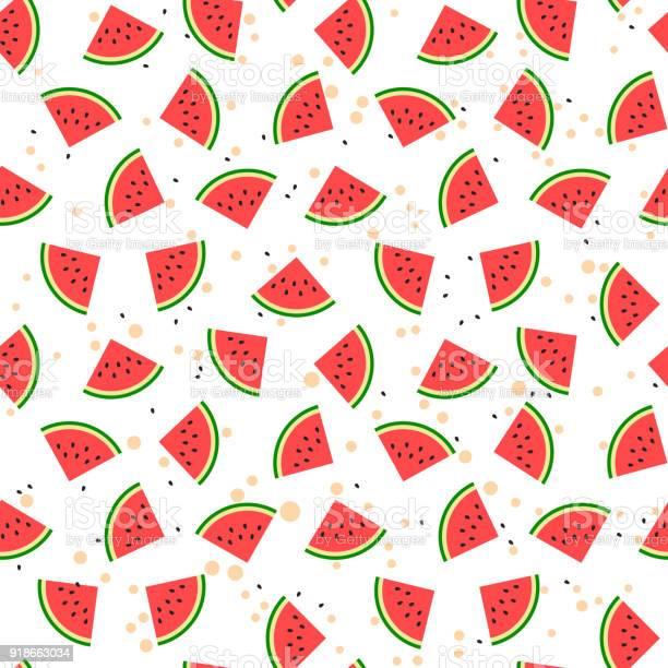 Watermeloen Naadloze Patroon Stockvectorkunst en meer beelden van 25 cent