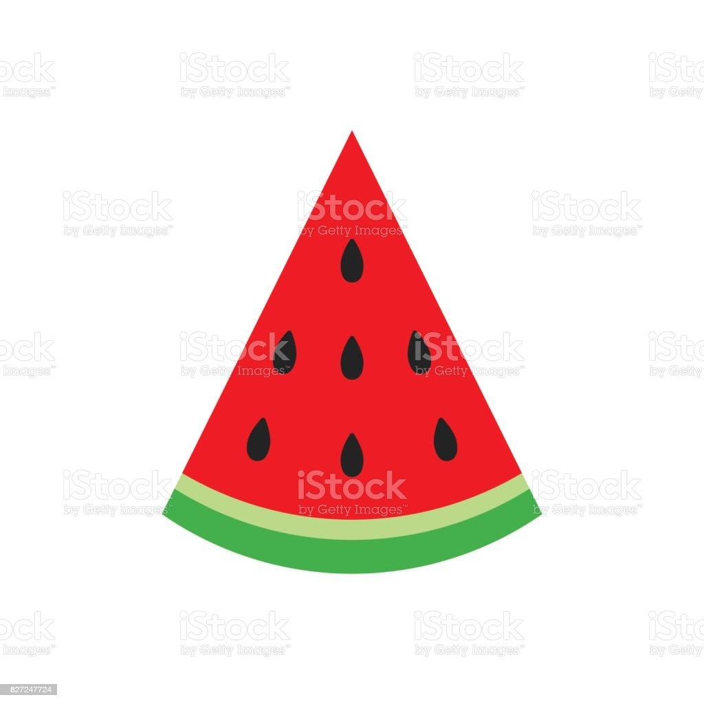 Watermelon sign vector icon. Ripe fruit illustration. Business concept simple flat pictogram on white background. - illustrazione arte vettoriale