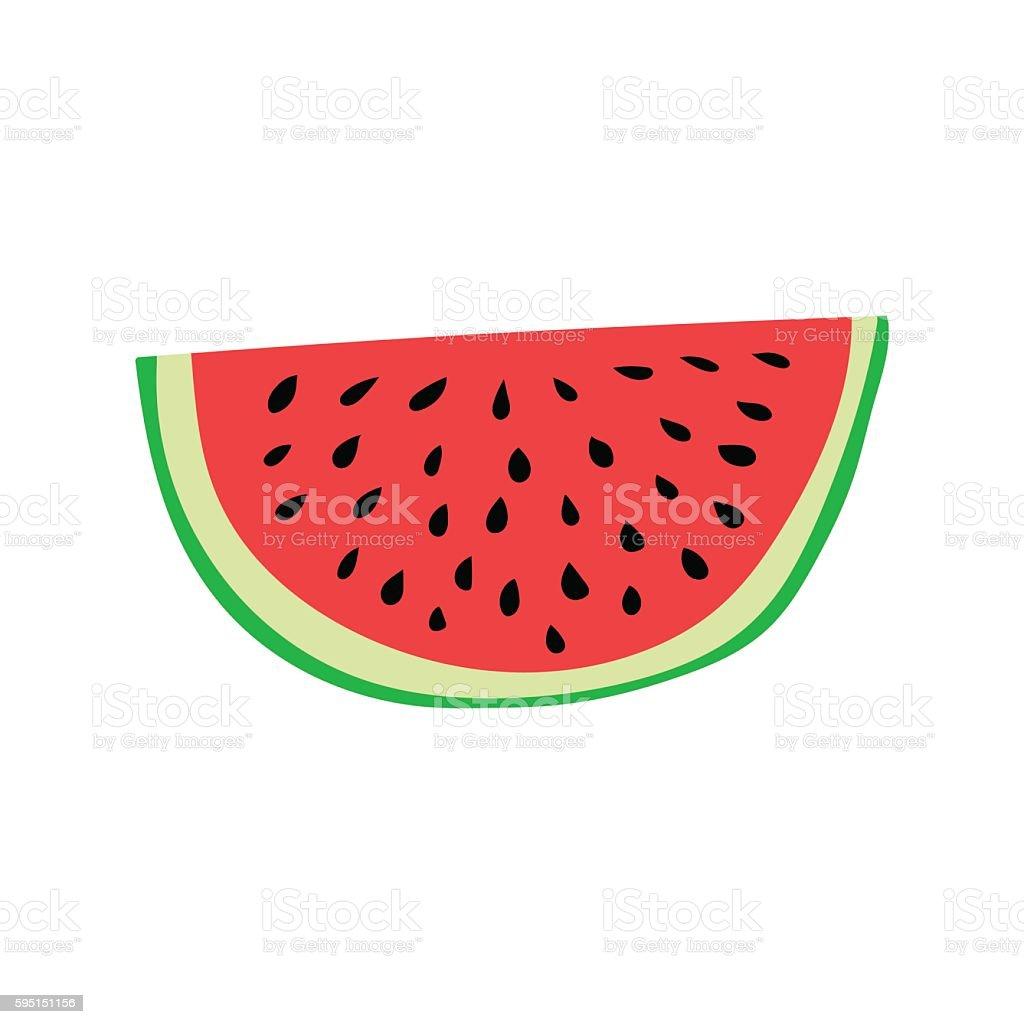 Watermelon slice. Cartoon style vector illustration - illustrazione arte vettoriale
