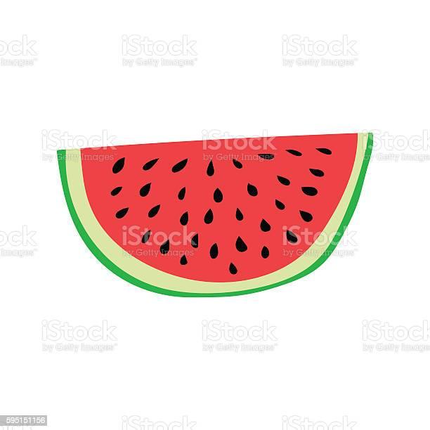 Watermelon Slice Cartoon Style Vector Illustration Stockvectorkunst en meer beelden van Afvallen