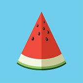 Vector illustration of watermelon.