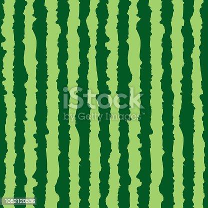 Watermelon seamless pattern. Green stripes of watermelon background. Vector illustration