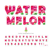 Fresh slices of watermelon