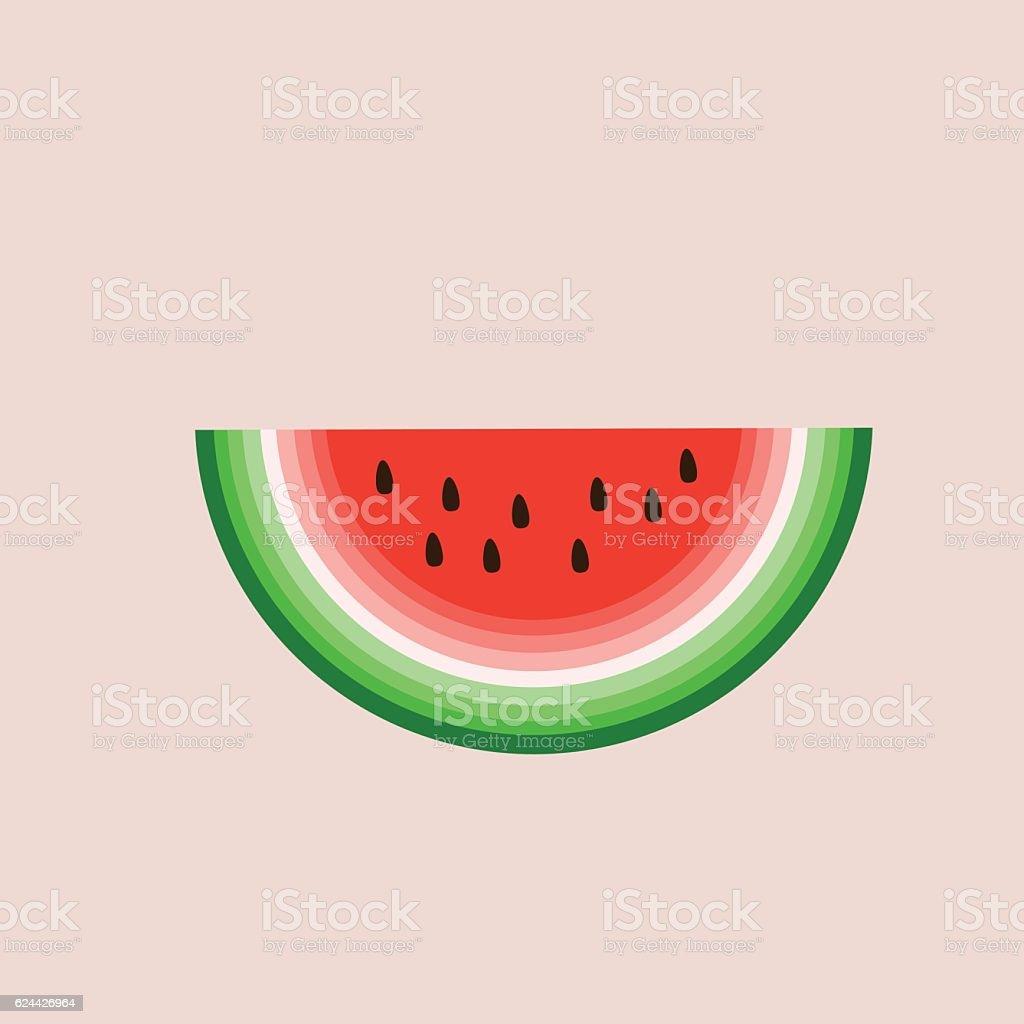 Watermelon vector vector art illustration