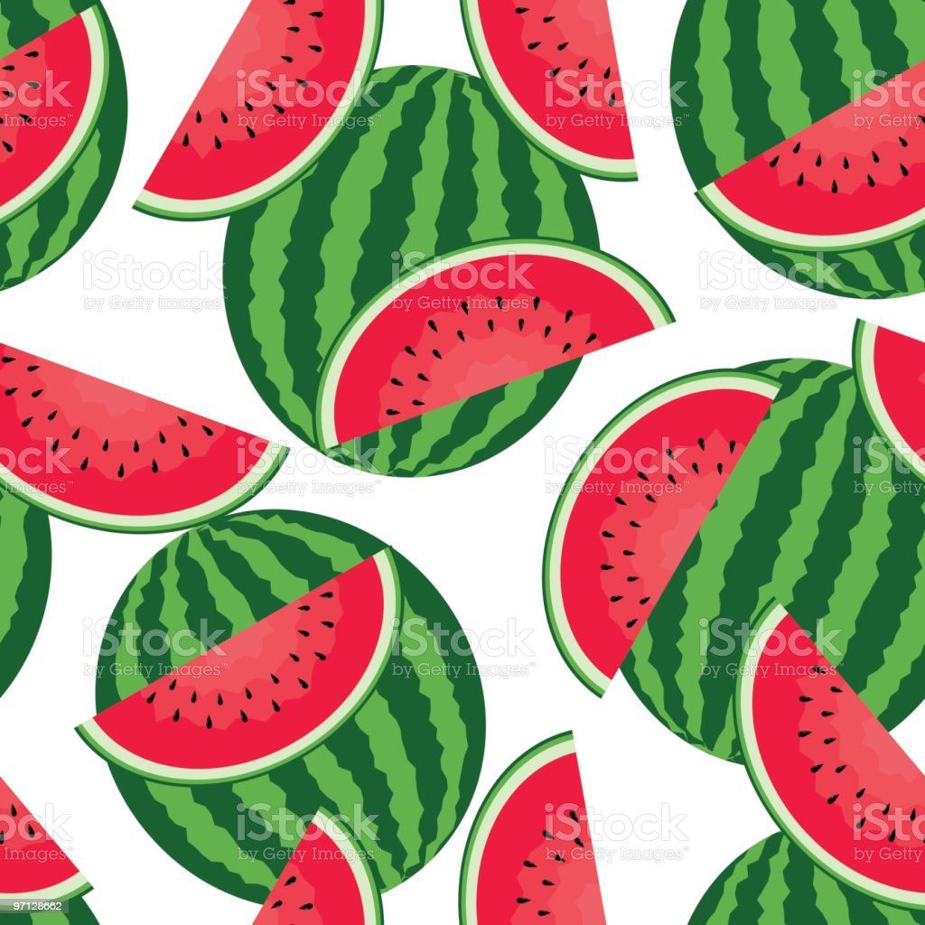 Watermelons seamless background royalty-free watermelons seamless background stock vector art & more images of backgrounds