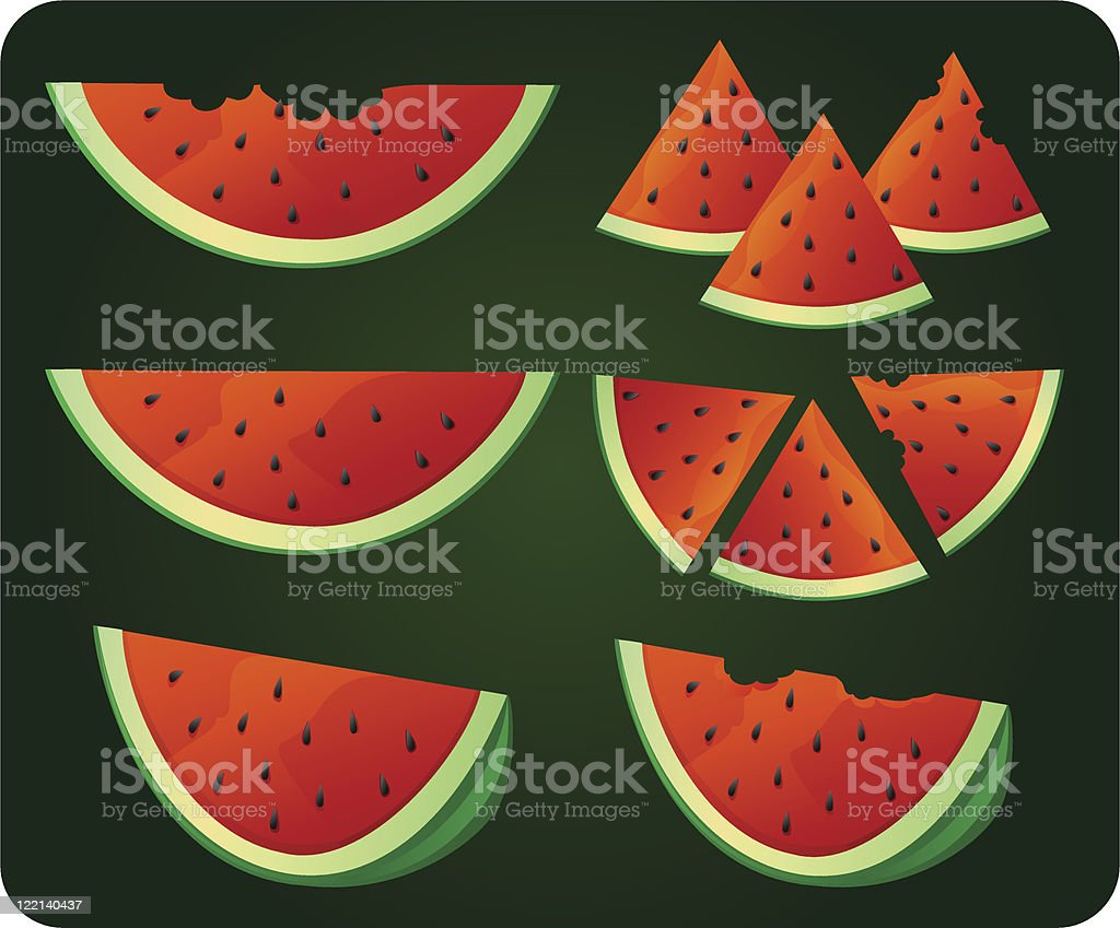 watermelons royalty-free stock vector art