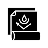 waterproof layer glyph icon vector illustration
