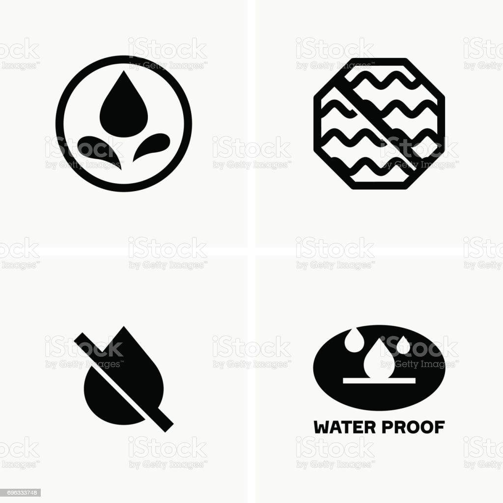 Wasserdichte Symbole Stock Vektor Art und mehr Bilder von ...