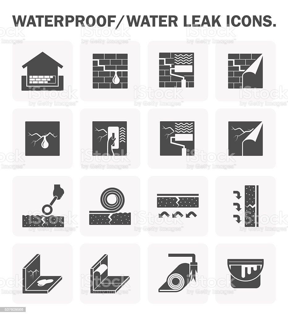 Waterproofing vector icon vector art illustration