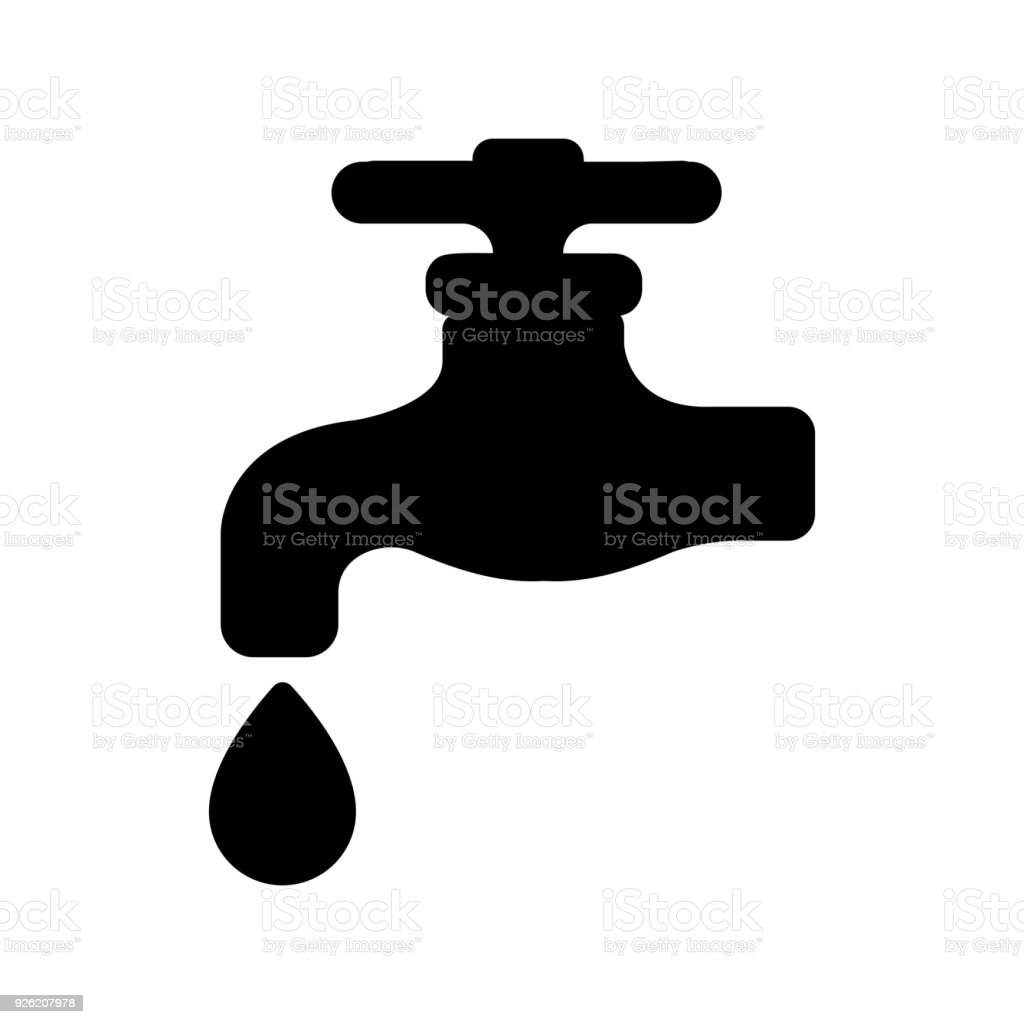 Waterworks Faucet Water Tap Icon Stock Vector Art & More Images of ...