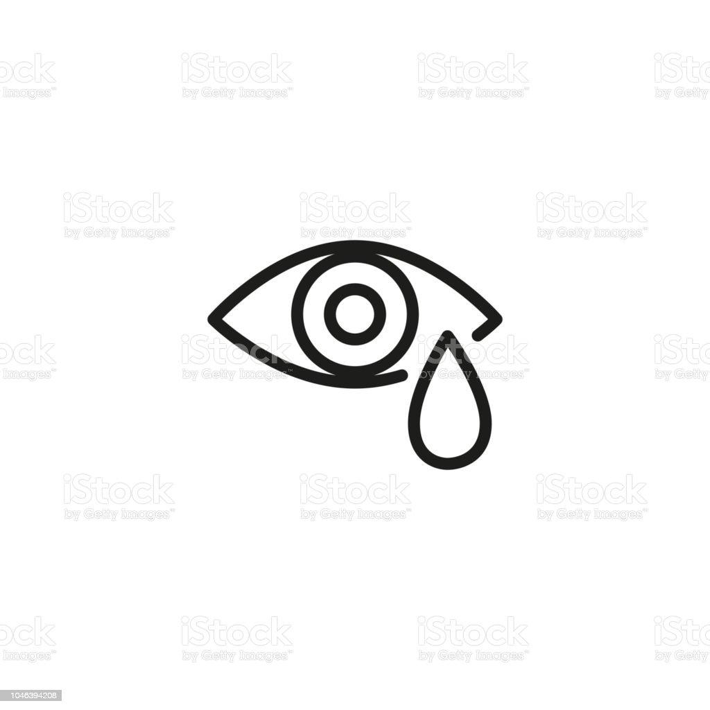 なみだ目線アイコン 1人のベクターアート素材や画像を多数ご用意 Istock