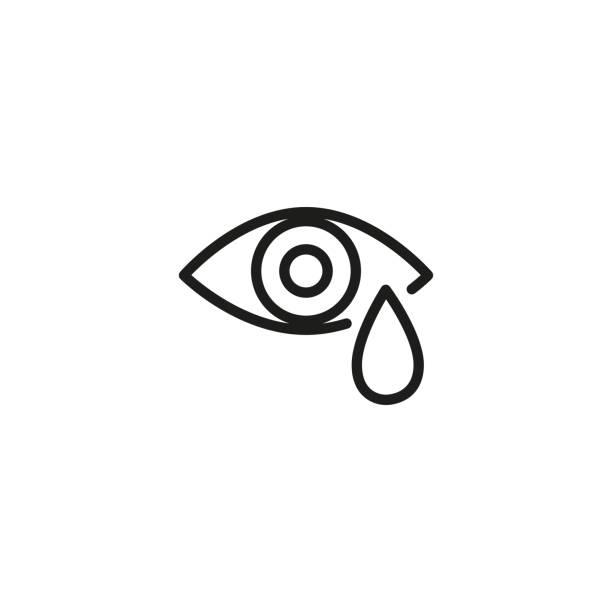 なみだ目線アイコン - 泣く点のイラスト素材/クリップアート素材/マンガ素材/アイコン素材