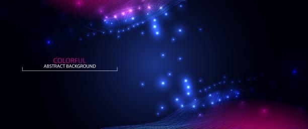 Welle abstrakt farbigen Hintergrund. 3D Gitter. Big-Data. Futuristische Vektor-illustration – Vektorgrafik