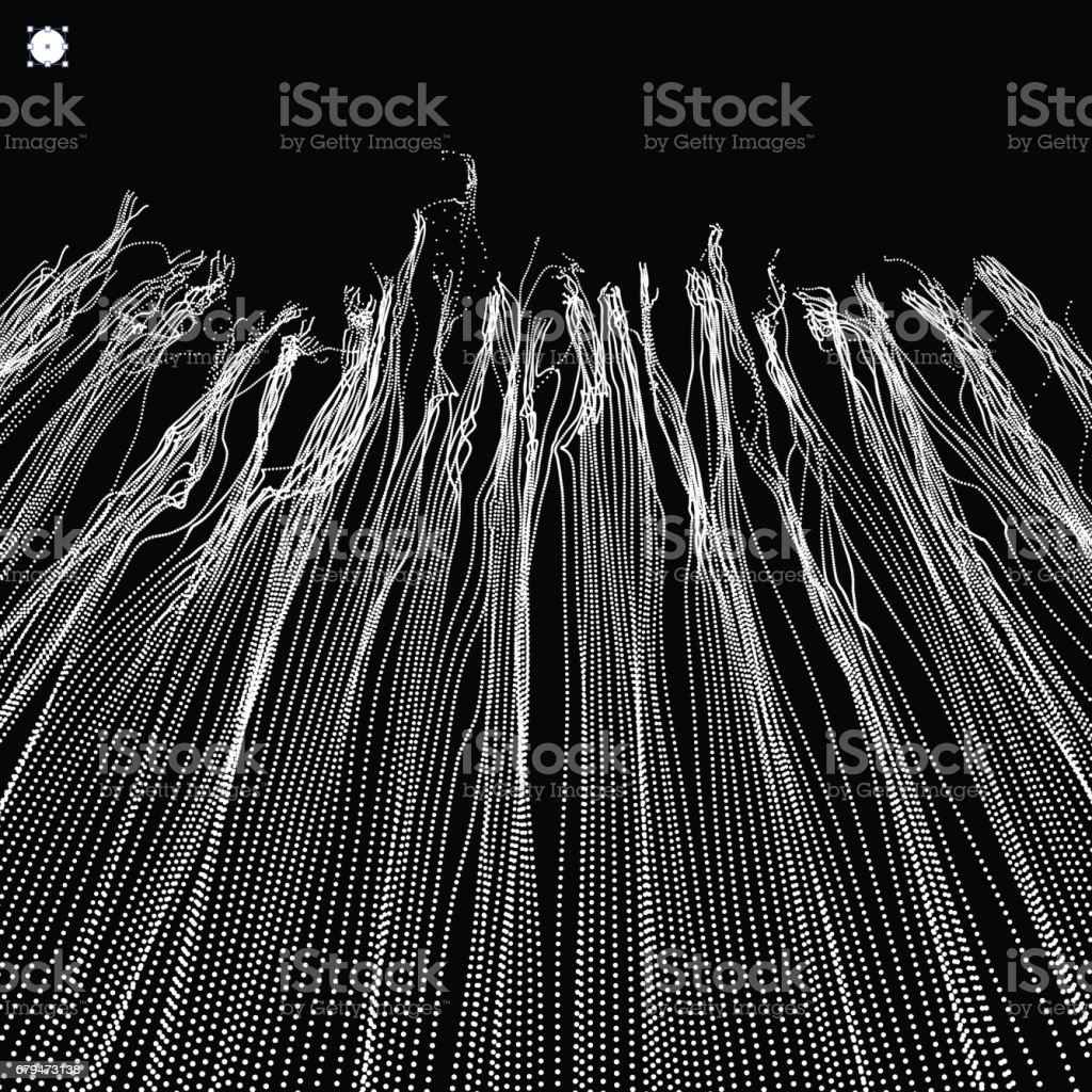 Wave Background. Ripple Grid. Abstract Vector Illustration. 3D Technology Style. Illustration with Dots. 免版稅 wave background ripple grid abstract vector illustration 3d technology style illustration with dots 向量插圖及更多 connect the dots - 英文諺語 圖片