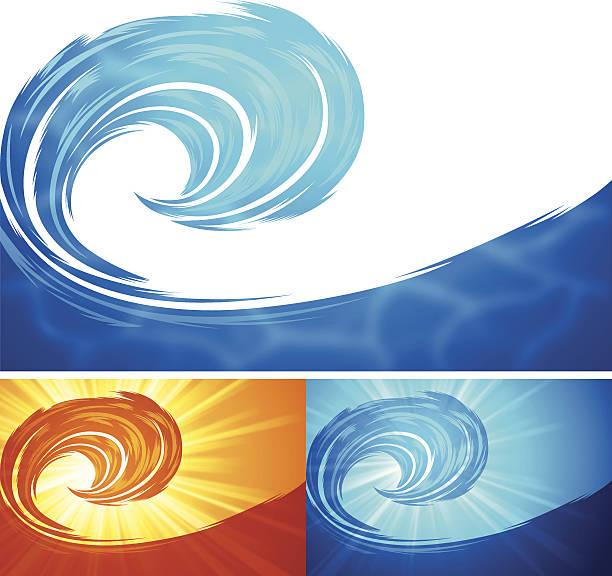wave background - tidal wave stock illustrations, clip art, cartoons, & icons