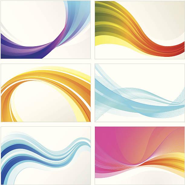 Welle Hintergrund Set – Vektorgrafik