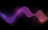 Wave form smooth audio gradient flow abstract background pattern.