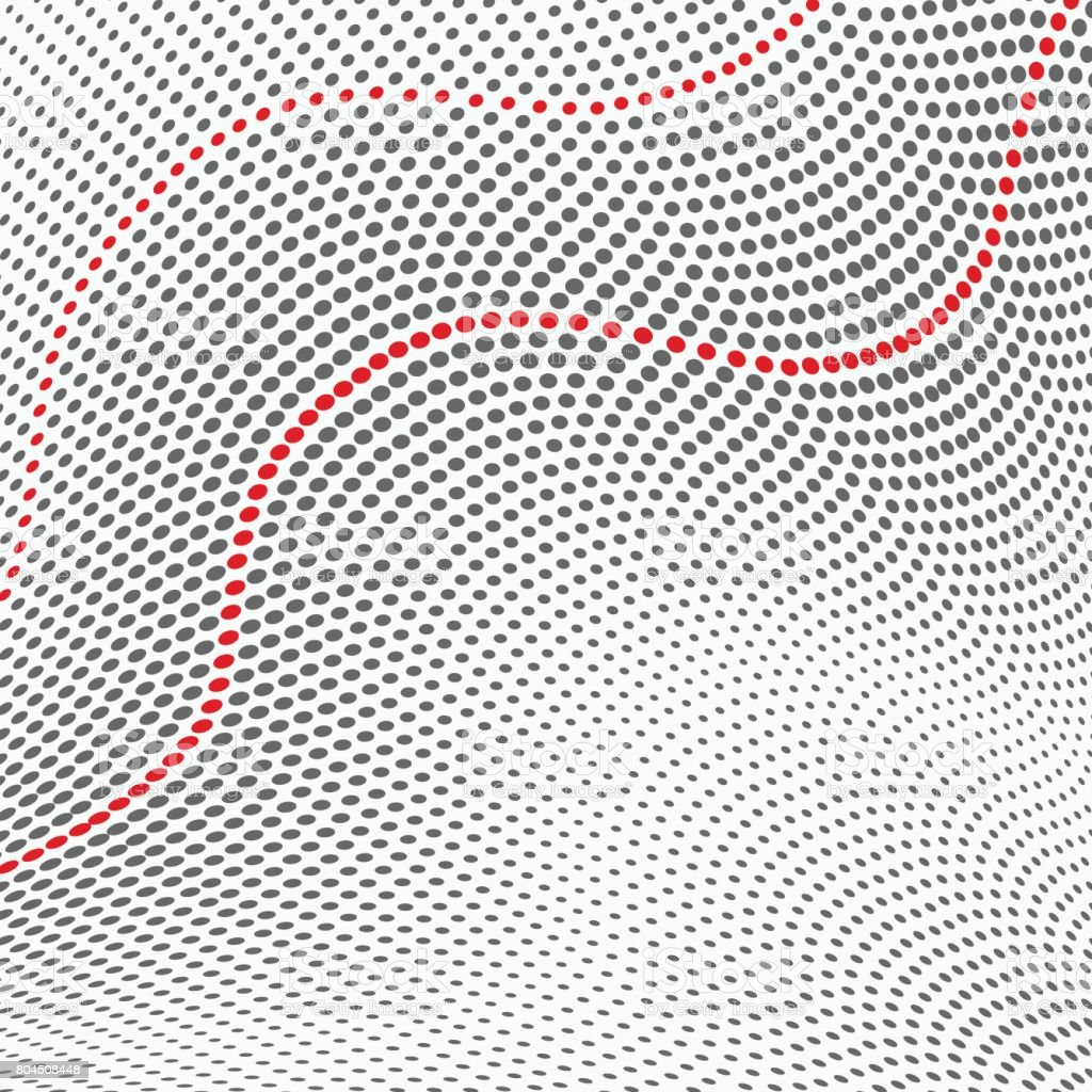 Wave Halftone Pattern Texture Background Stock Illustration