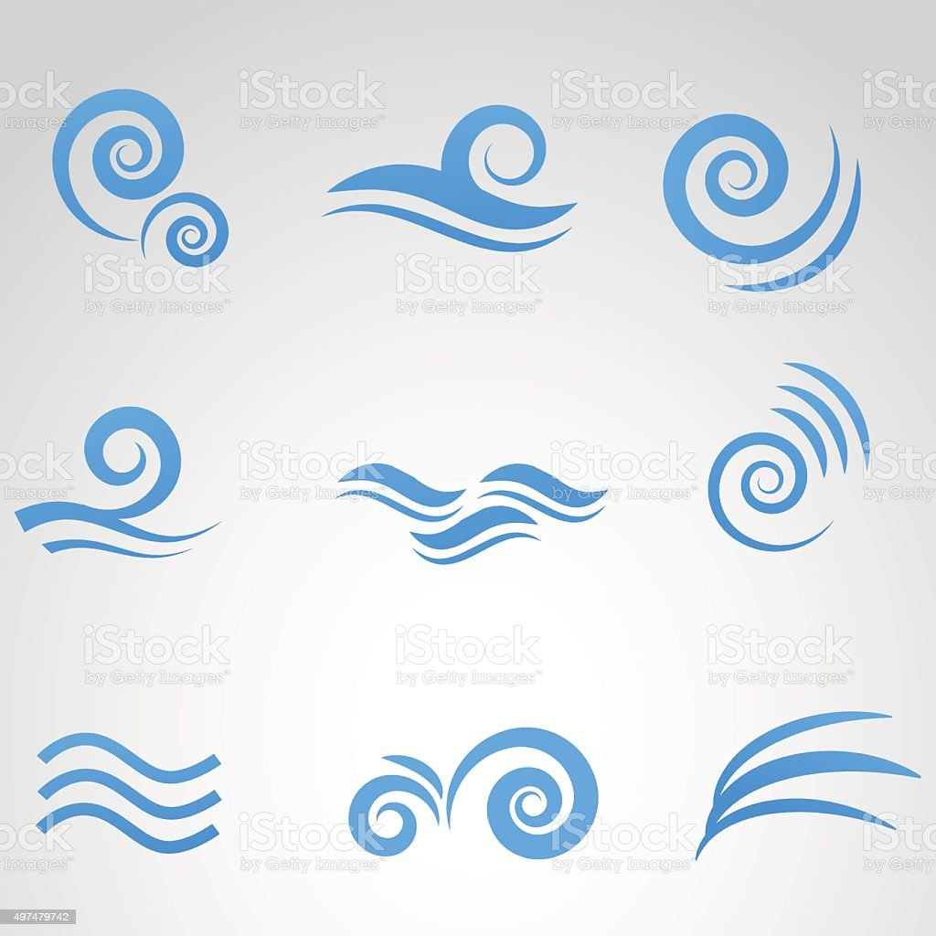 Wave icon isolated on white background. vector art illustration