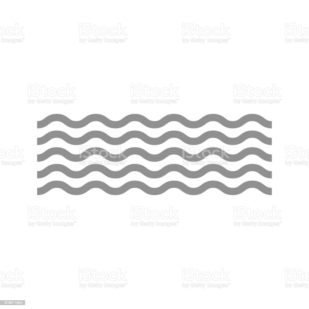 Wave icon vector art illustration