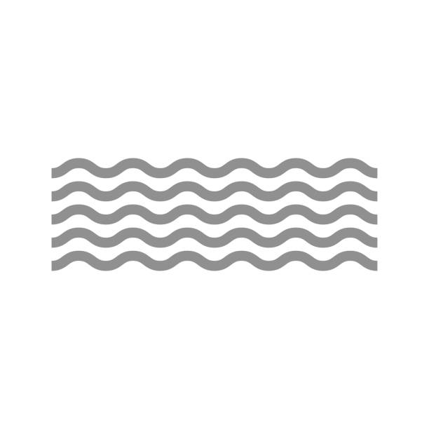 Wave icon Wave icon squiggle stock illustrations