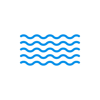 Wave icon. Water symbol. Sea and Ocean outline sign. Vector illustration.