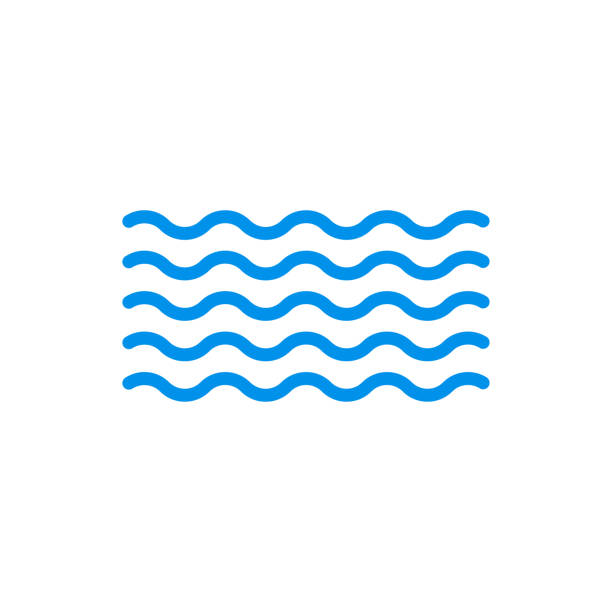 Wave icon. Water symbol. Sea and Ocean outline sign. Vector illustration. Wave icon. Water symbol. Sea and Ocean outline sign. Vector illustration. wave water stock illustrations