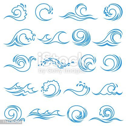 Set of wave icons