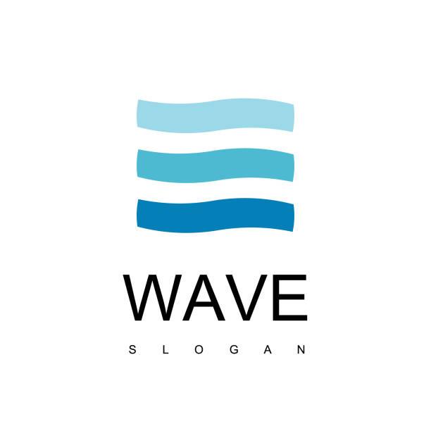 Wave Logo Design Inspiration Wave Symbol lakes stock illustrations
