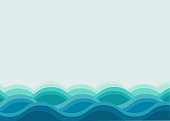 Water ocean wave background , Blue color background , Vector illustration