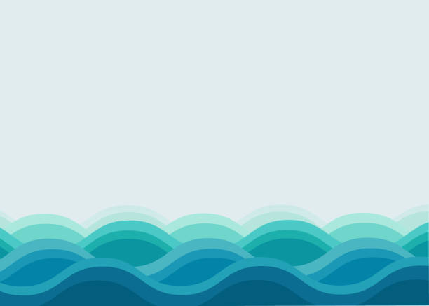 tło oceanu falowego - staw woda stojąca stock illustrations