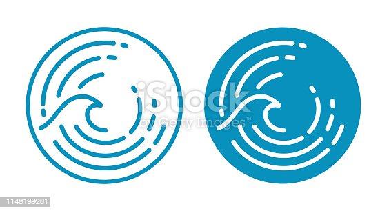Wave water ocean symbol.