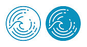 istock Wave Ocean Symbol 1148199281