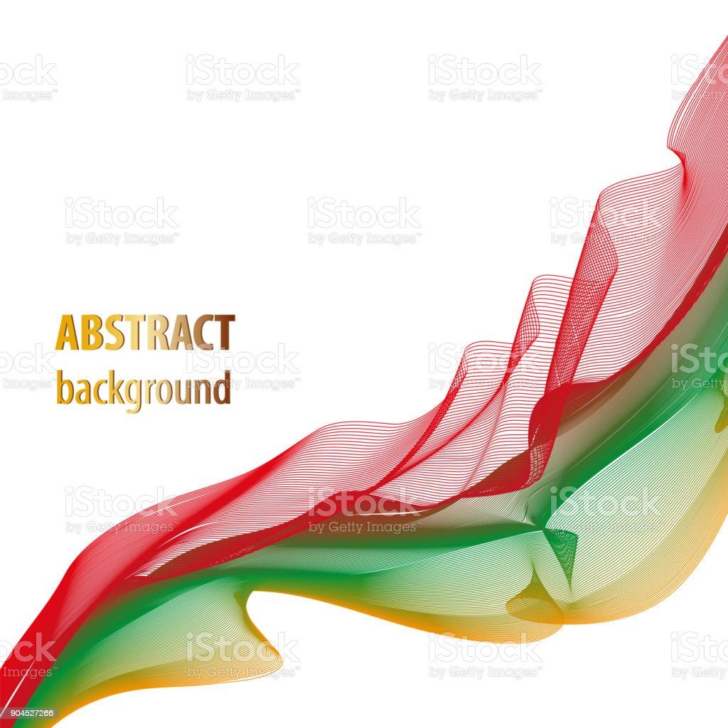 Wavemuster Rot Grün Gelb Zusammenfassung Hintergrund Techniklayout