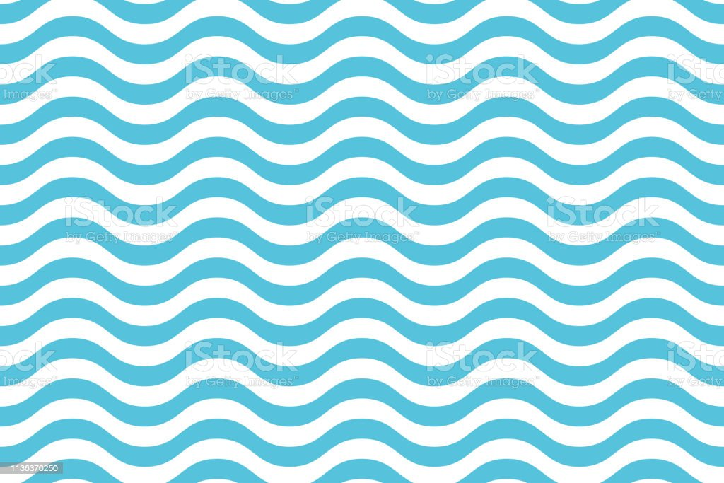 b2d922eb Wave pattern seamless abstract background. Stripes wave pattern white and  blue colors for summer vector