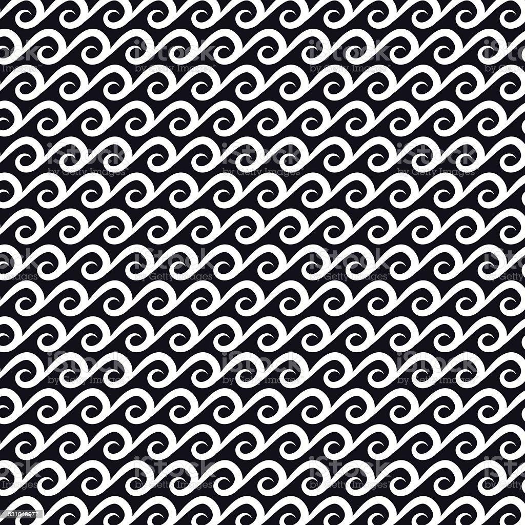 Wave pattern. vector art illustration