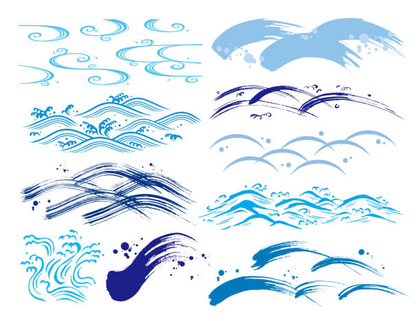 ウェーブセット - 漁師点のイラスト素材/クリップアート素材/マンガ素材/アイコン素材