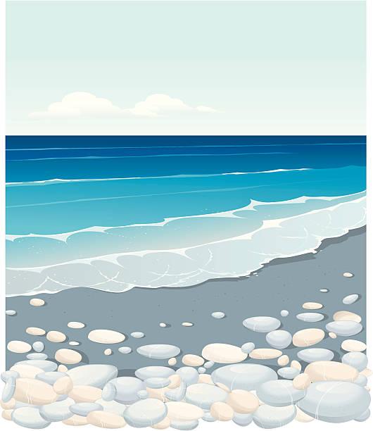 wave - pebbles stock illustrations, clip art, cartoons, & icons